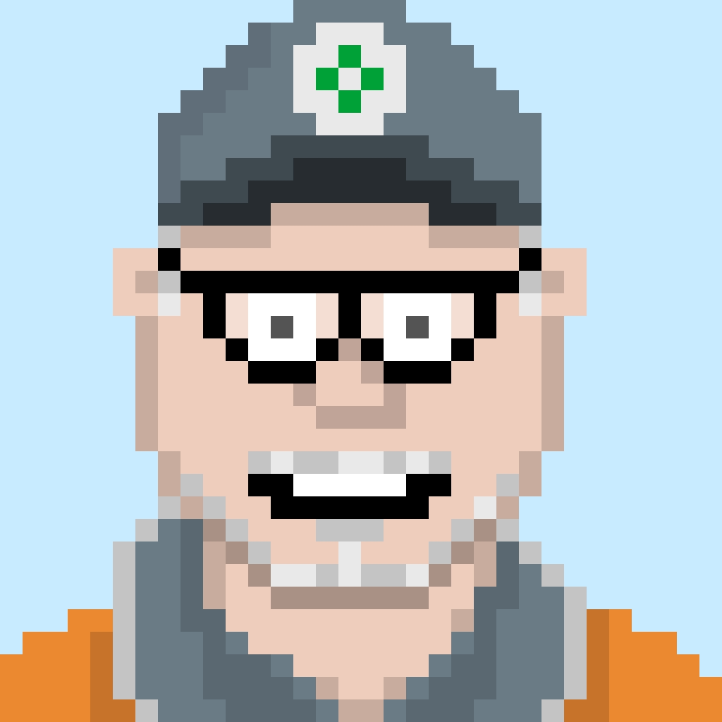 Pixel Portrait of Bruce