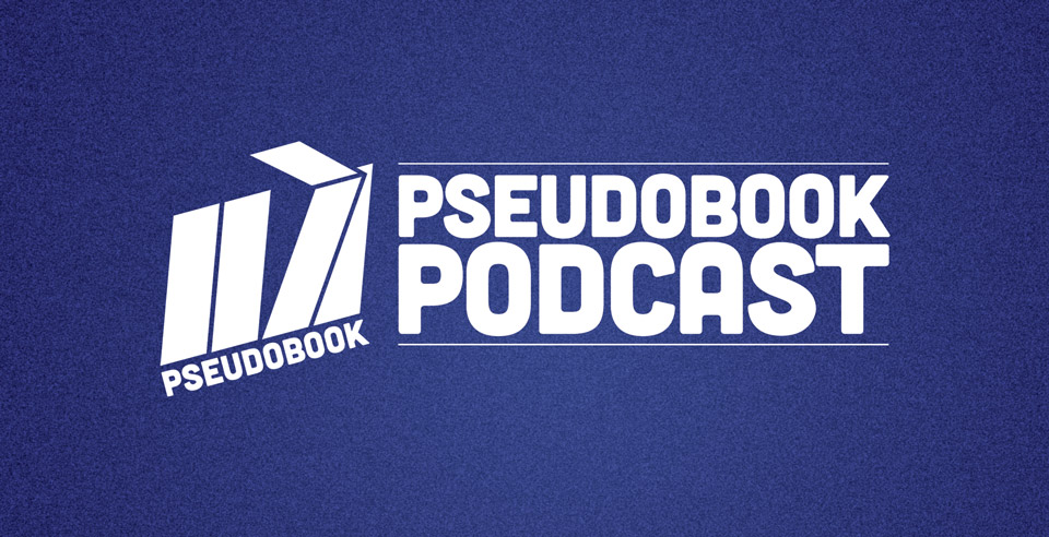 Pseudobook Podcast wide logo